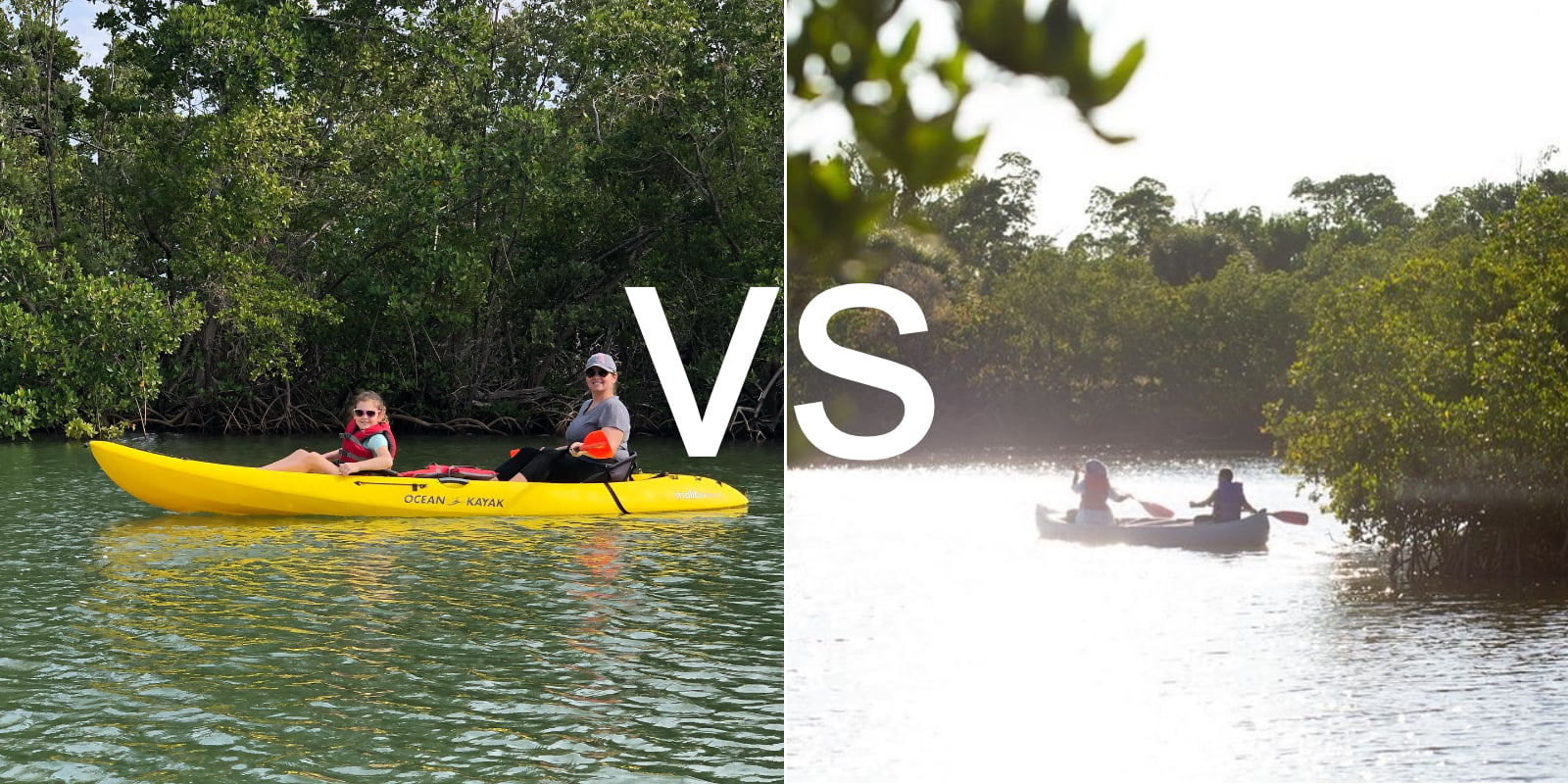Kayaking vs Canoeing at Lovers Key State Park