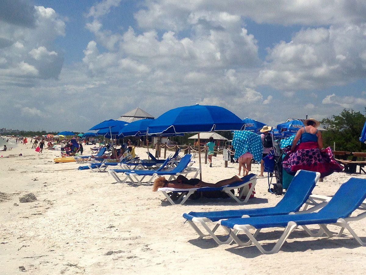Enjoying Sun and Sand at Lovers Key Beach