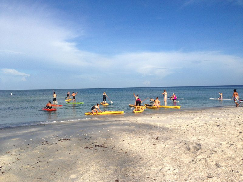 Learn-to-paddleboard