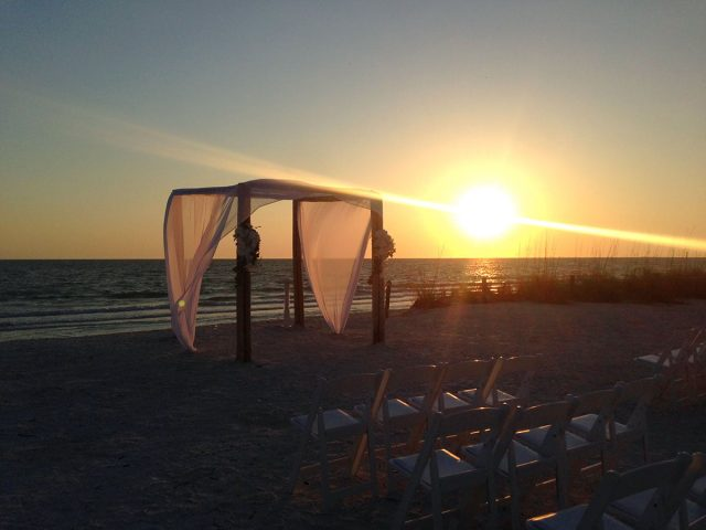 Sunset Wedding Ceremony on the Beach