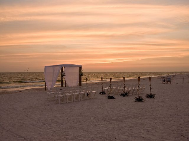 Sunset Wedding Fort Myers Beach