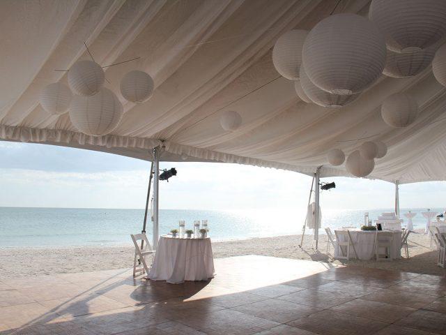 Wedding Tent with Dance Floor Lovers Key